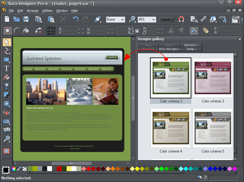 Click to view Xara Designer Pro 6.0 screenshot