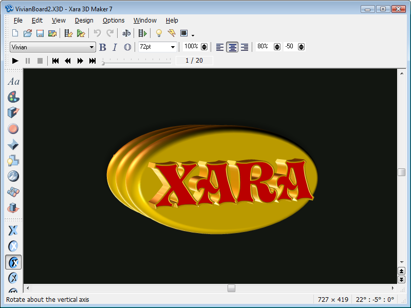 Xara 3D Maker Screenshot