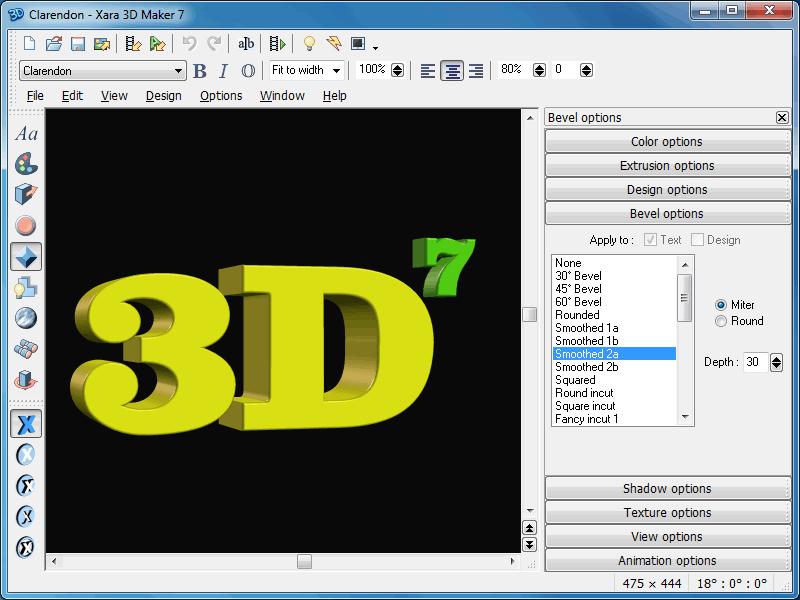 Xara 3d Maker Screenshots