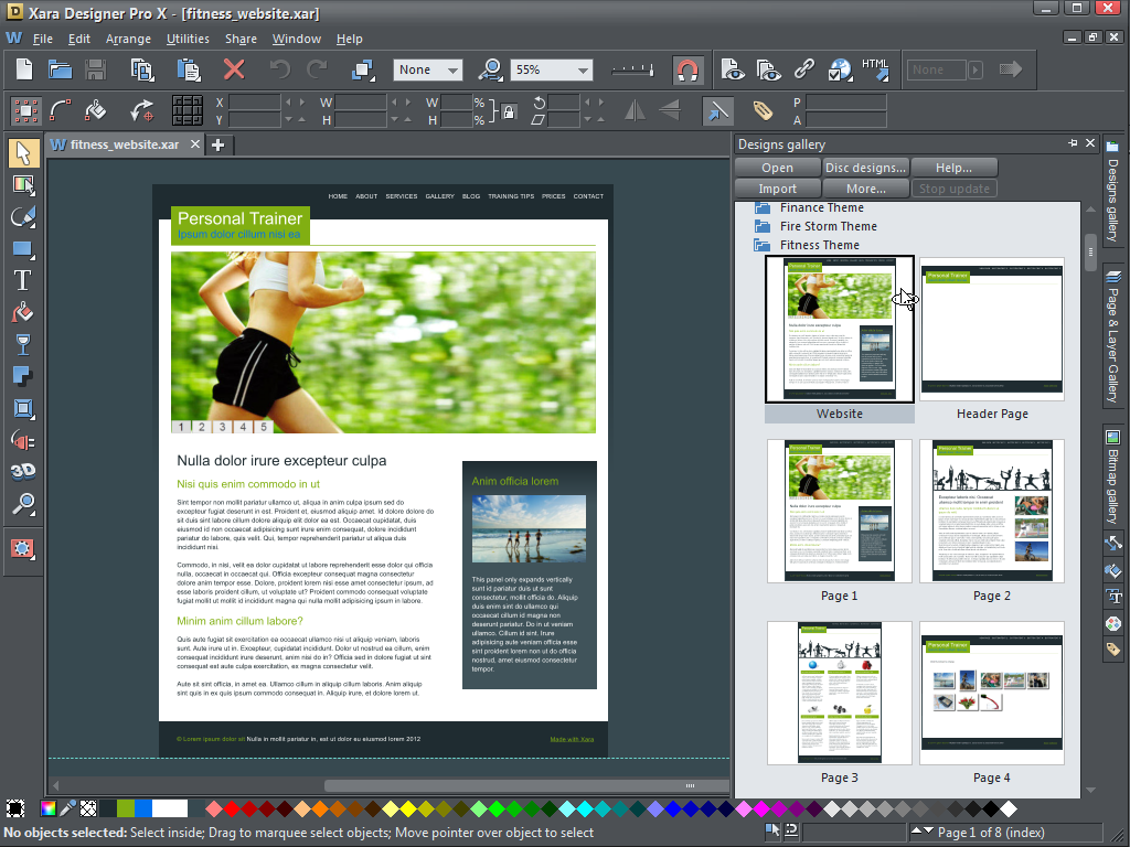 Click to view Xara Designer Pro X 8 screenshot