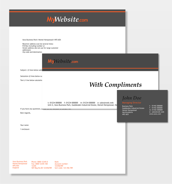 template xara xara page layout designer templates