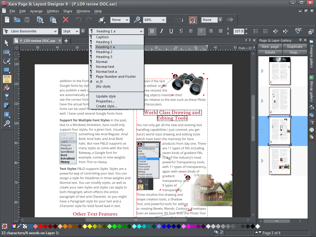 Click to view Xara Page & Layout Designer screenshots