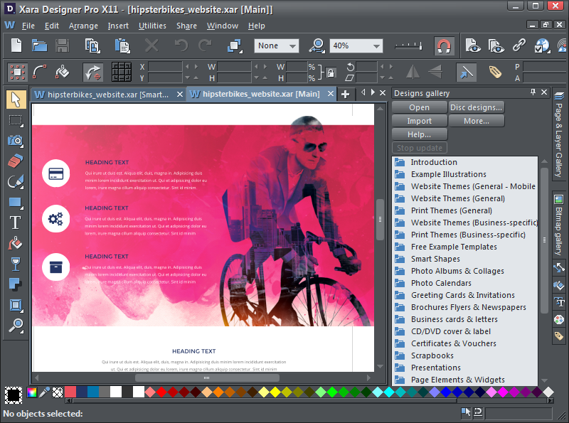 Click to view Xara Designer Pro X screenshots