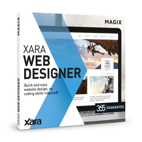 Xara Web Designer Screen shot