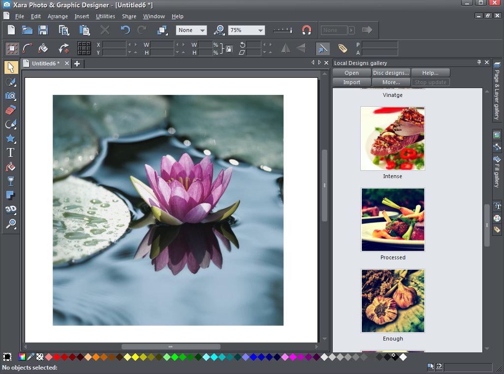 Xara photo graphic designer 6