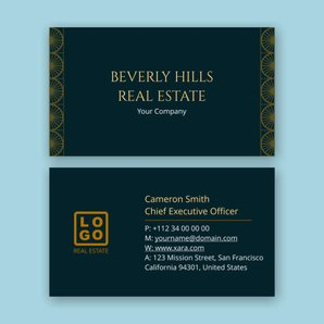 Real Estate Business Cards Templates