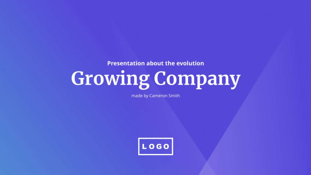 Presentations – Growing Company
