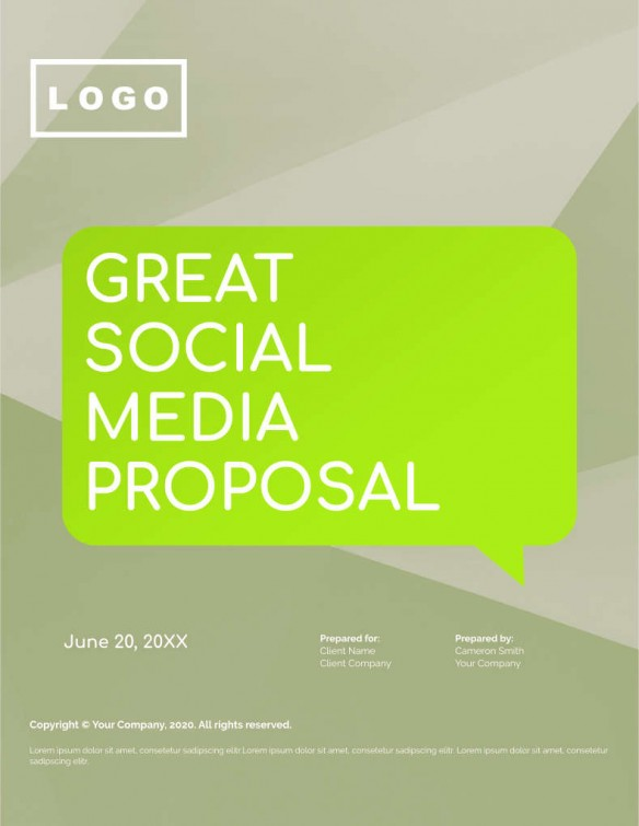 Proposals – Social media strategy