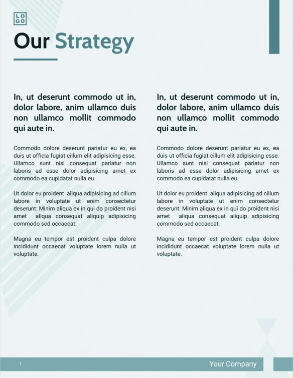 Proposals – Strategy