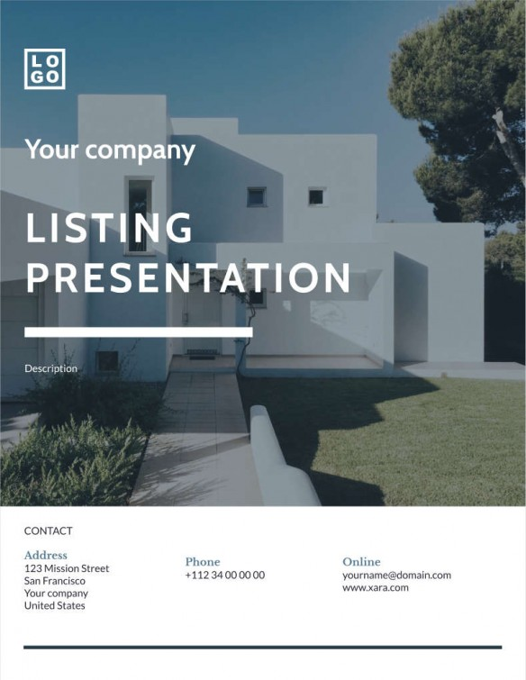 Real Estate – Listing presentation – Classic