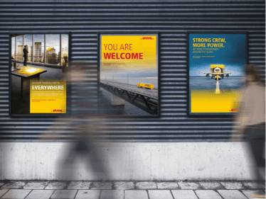DHL ads on the underground